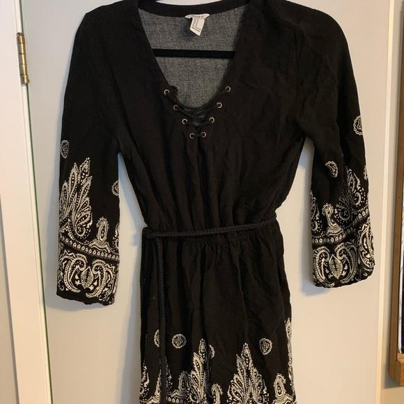 Forever 21 Dresses & Skirts - Forever 21 black Bohemian style dress